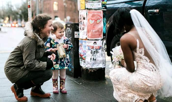 Bride mystifies little girl who thinks it's her favorite princess
