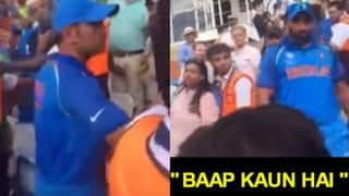 MS Dhoni cools angry Mohammed Shami after Pakistani Fans hurled 'Who's your Daddy?' taunt at CT 2017 Final! Watch video