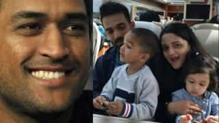 Ziva doesn't miss dad MS Dhoni, chills with Zoravar Dhawan, Ajinkya Rahane and his wife Radhika!