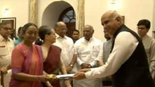 Meira Kumar, Opposition nominee, files nomination papers for Presidential Election 2017