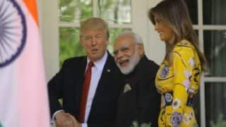 Modi-Trump meet: Melania made heads turn with yellow floral gown worth $2,160