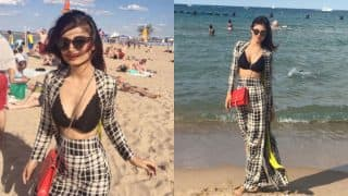Mouni Roy rocks cleavage-baring bralette in new hot pictures from the Chicago holidays!