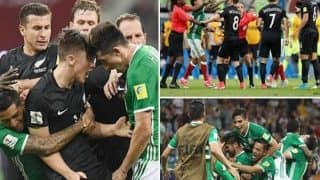 Confederation Cup 2017: Huge brawl at last-minute spoils Mexico's 2-1 win over New Zealand