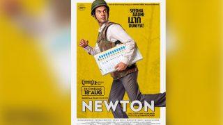 Newton poster out: Rajkumar Rao runs with an electoral ballot making us curious about this Seedha Aadmi Ulti Duniya