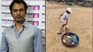 Nawazuddin Siddiqui's children are a part of Versova Beach Cleaning Program (See Pictures)