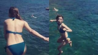 Radhika Apte rocks tiny blue bikini on Italy vacation! Watch video and pictures of hot Indian actress