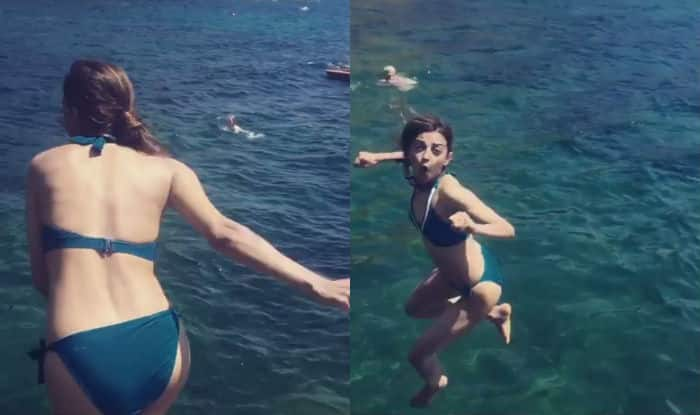 Radhika Apte Rocks Tiny Blue Bikini On Italy Vacation Watch Video And Pictures Of Hot Indian Actress India Com