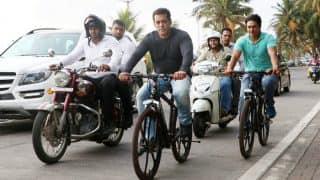 Want to know what Salman Khan did when he passed by Mannat on his Being Human e-cycle? Watch Video