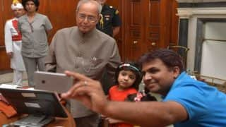 President Pranab Mukherjee launches 'Selfie With Daughter' mobile app