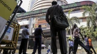 Sensex closes 123 points higher, Nifty near 9700; PSU banks, RIL stocks gain