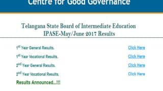 manabadi.co.in Telangana TS Inter 1st 2nd Year Supply Results 2017 Declared: Check name wise results online at official website bie.telangana.gov.in now