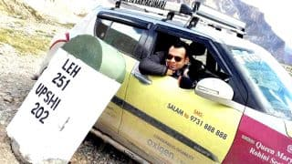 Paraplegic Eric Paul drives from Leh to Kanyakumari, enters Limca Book of Records