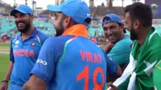 Virat Kohli and Yuraj Singh laughing with Pakistani players after losing ICC Champions Trophy 2017 puts true sportsmanship on display (Watch Video)