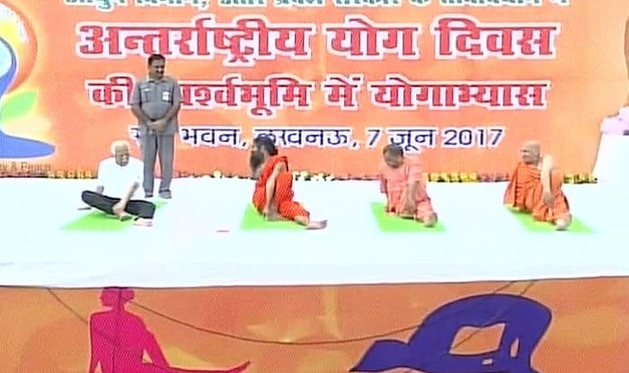 Yogi Adityanath Baba Ramdev Perform Yoga In Lucknow Ahead Of International Day 2017 Watch Video