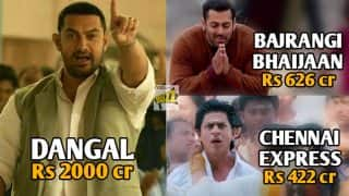 Dangal with Rs 2000-cr Box Office Collection makes Aamir beat Salman and Shah Rukh Khan's highest overseas grossing movies put together!