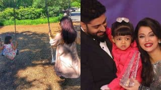 Aishwarya and Abhishek Bachchan enjoy some playtime with daughter Aaradhya, share cute pics on social media