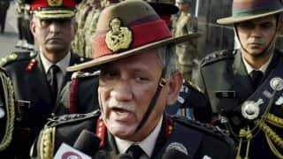 Stone pelters in Kashmir use women as shield: Army Chief General Bipin Rawat