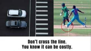 Traffic ad trolls Jasprit Bumrah's no ball, the bowler doesn't like it