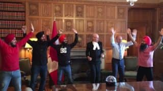 Canadian MPs do the bhangra dance with Maritime Bhangra Group and the video is going viral!