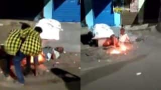 Homeless man's private parts set on fire by drunken miscreants in Chennai! Chilling video goes viral