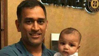 Champions Trophy: MS Dhoni adorable picture with Sarfraz Ahmed's son goes viral