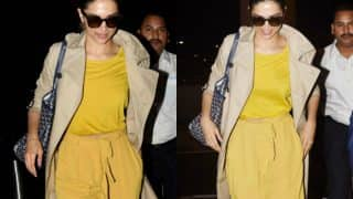Deepika Padukone's yellow outfit makes our day during this dull weather - view pics!