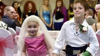 5-yr-old terminally ill girl marries her 6-year-old best friend in a fairy tale wedding!