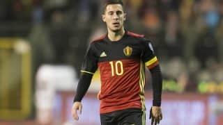 Chelsea midfielder Eden Hazard fractures ankle in training with Belgium