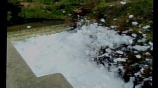 Toxic foam overflows at Ramakrishnapuram lake's canal in Hyderabad