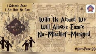 Mumbai Police uses Harry Potter Marauder's Map to impart road safety and traffic rules!