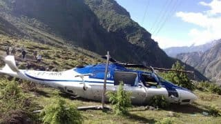Helicopter fails to take off in Badrinath; engineer dies on being strangled in blades