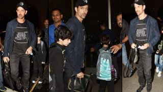Hrithik Roshan and sons off to London to celebrate Father's day -  view pics
