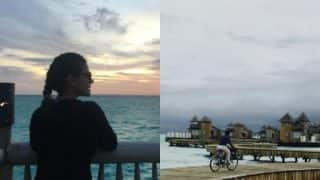 Kajol's adventurous bike ride on the wooden path of Maldives will instantly boost you!