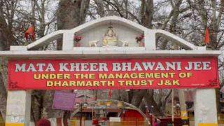 कश्मीर हिंसा के बीच खीरभवानी मंदिर के लिए 600 कश्मीरी पंडित रवाना, सुरक्षा के पुख्ता इंतजाम
