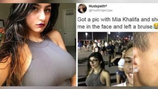 Mia Khalifa hits a fan while he takes a selfie with the porn star without asking her, Twitterati does not forgive him!