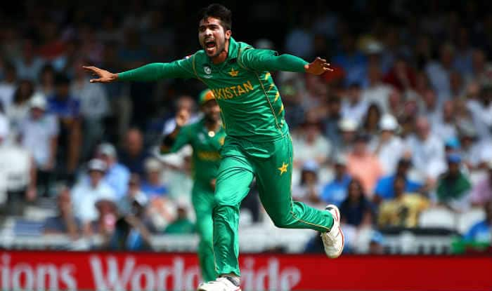 Mohammad Amir celebrates after taking a wicket. ©GettyImages