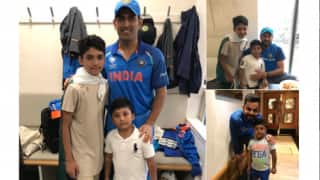 MS Dhoni, Virat Kohli and Yuvraj Singh thanked by Pakistan's Azhar Ali for taking time out to click pictures with his sons!