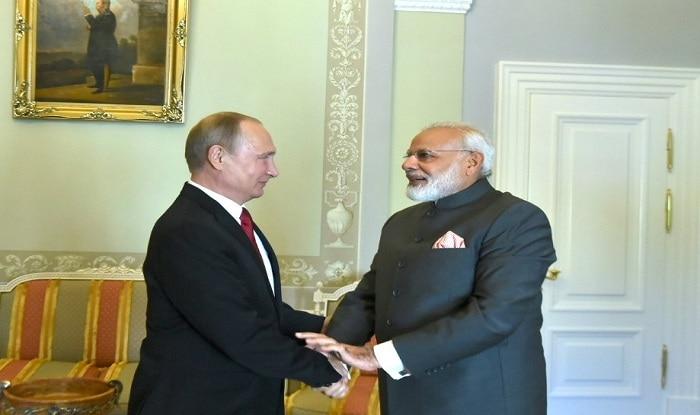 Narendra Modi and Vladimir Putin hold annual India-Russia bilateral meeting in St. Petersburg (Twitter/@NarendraModi)
