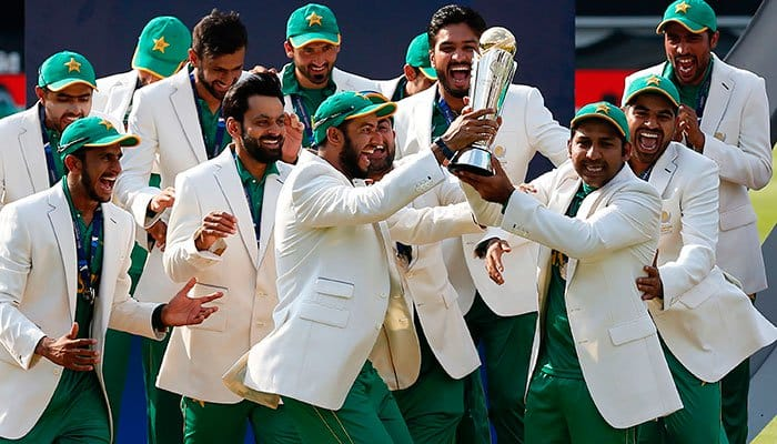 Pakistan win their first ICC Champions trophy.