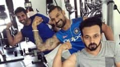 Virat Kohli, Shikhar Dhawan hit the gym ahead of third ODI against West Indies