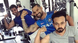 Virat Kohli, Shikhar Dhawan hit the gym ahead of third ODI against West Indies