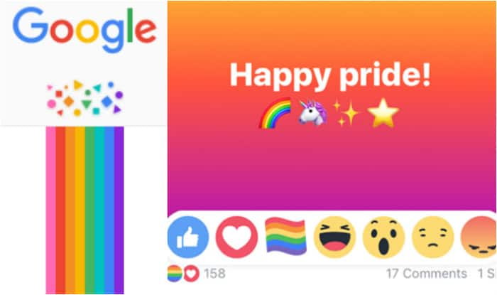 435f3685d626 LGBT Pride Month celebrated by Facebook   Google with hidden rainbow  reactions and artworks! Here