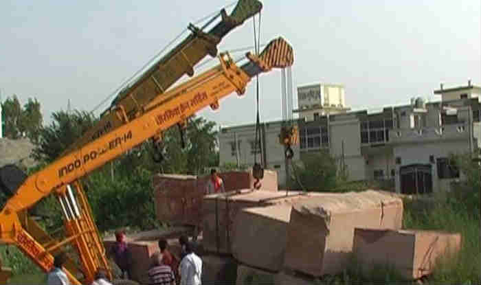 Temperatures rise as truckloads of stones arrive in Ayodhya for Ram Mandir