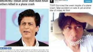 Shah Rukh Khan on his death hoax: See SRK react to fake news of plane crash & fatal accident on sets