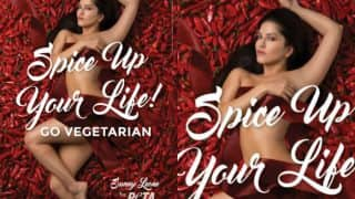 Sunny Leone spices it up for PETA India's new ad! See Hot picture that will inspire you to Go Vegetarian