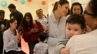 Kareena Kapoor Khan's baby boy Taimur stole the limelight at Laksshya's first birthday party - check out inside pics