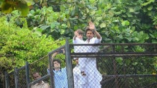Eid Mubarak: Shah Rukh Khan along with son AbRam greeting his fans outside Mannat is the cutest thing you will see today - view pics