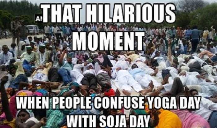 Yoga Day Images Hilarious Memes Of Politicians Performing Asanas On International 2017