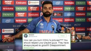 Virat Kohli gets support and appreciation from Pak fans as Indians burn his posters and bash Team India Captain