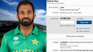 Pakistani cricketer Wahab Riaz is up for sale on eBay! Pictures of Bids for 'Used' Pacer have gone viral on social media
